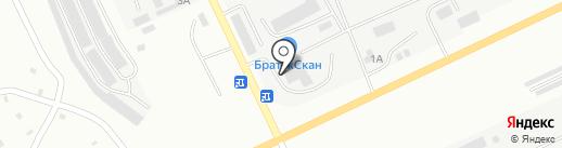 БратскСкан на карте Братска
