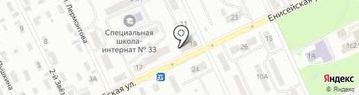 Апринт на карте Братска