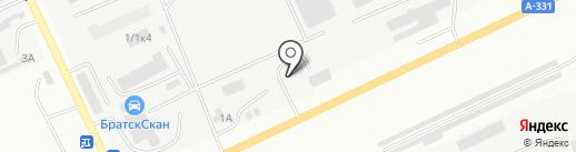 Студия полировки на карте Братска