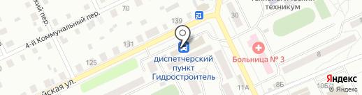 Гидростроитель на карте Братска