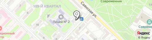 Стиляги на карте Ангарска