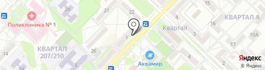 Рюмочный №1 на карте Ангарска