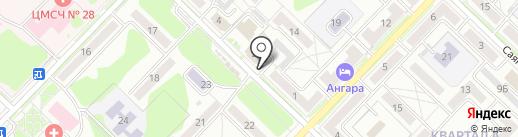 Сарсенбаев на карте Ангарска
