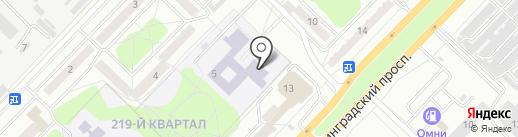 Средняя общеобразовательная школа №25 на карте Ангарска