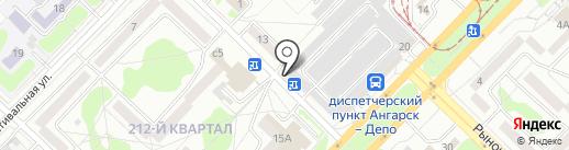 205 на карте Ангарска