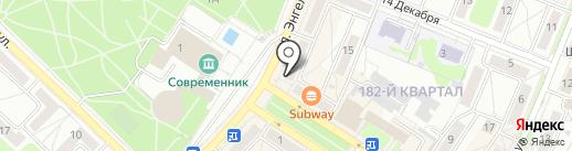Спартак на карте Ангарска