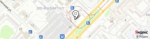 Красная на карте Ангарска
