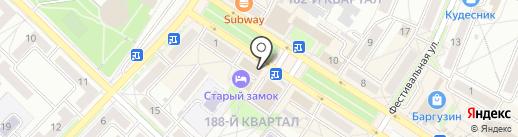 Авеню на карте Ангарска