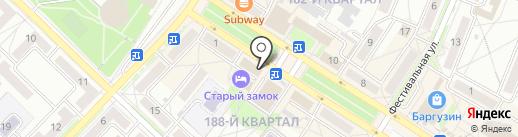 Спорт-олимп на карте Ангарска