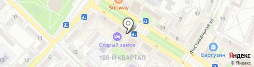 Сабина на карте Ангарска