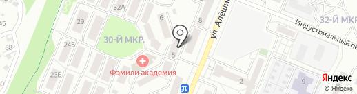 Чистоград на карте Ангарска