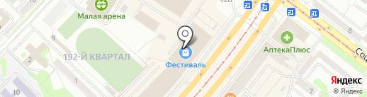 Чайбург на карте Ангарска