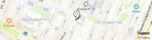 Магазин фруктов и овощей на карте Ангарска
