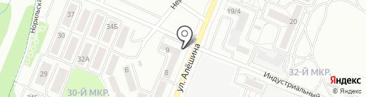 Диваныч на карте Ангарска