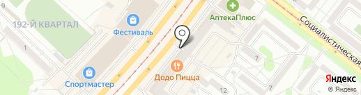 Яркий на карте Ангарска