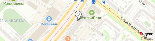 Магазин домашнего текстиля на карте Ангарска