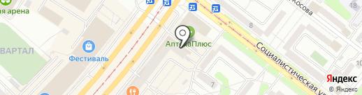 Комод на карте Ангарска