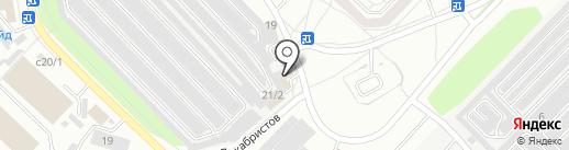 На кольцевой на карте Ангарска