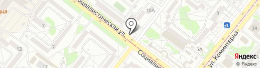 Столоффка на карте Ангарска