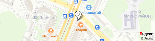 Гагарин на карте Ангарска