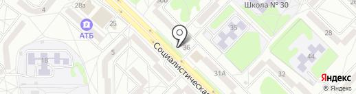Салон-парикмахерская на карте Ангарска