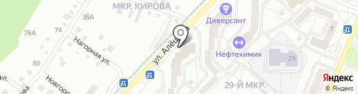 Каскад на карте Ангарска