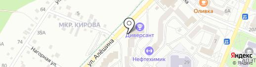 Конференц-зал на Алешина на карте Ангарска