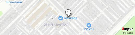 Вобла на карте Ангарска