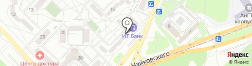 Межобластной учебный центр на карте Ангарска