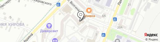 Прибрежный на карте Ангарска