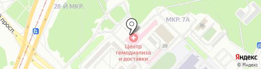 Строитель на карте Ангарска