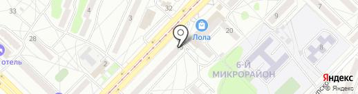 Почтовое отделение №32 на карте Ангарска
