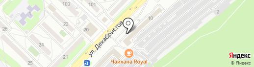 СТП на карте Ангарска