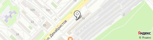 РЕНО-НИССАН-СЕРВИС на карте Ангарска