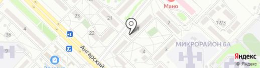 Школа безопасности, ЧПОУ на карте Ангарска