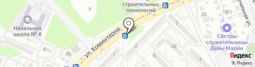 У дороги на карте Ангарска