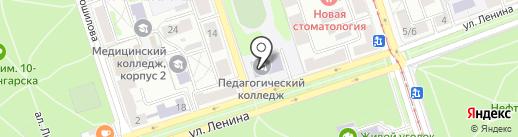 Ангарский педагогический колледж на карте Ангарска