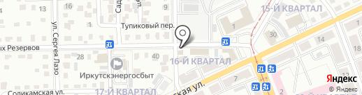Розлив 24 на карте Ангарска