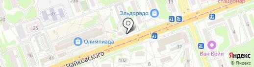 Магазин чулочно-носочных изделий на карте Ангарска