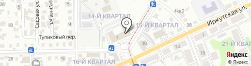 Стройдвор на карте Ангарска