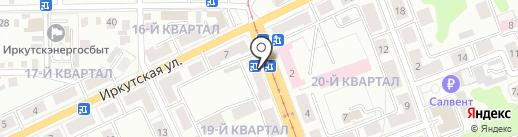 Копеечка на карте Ангарска
