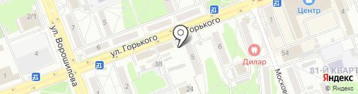 Магазин по продаже овощей и фруктов на карте Ангарска
