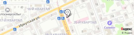 Ангарская областная психиатрическая больница на карте Ангарска