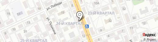Почтовое отделение №6 на карте Ангарска
