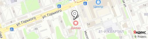 Суворов на карте Ангарска