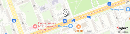 Фруктоша на карте Ангарска