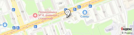 Магазин косметики и парфюмерии на карте Ангарска