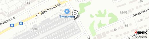 Звездочка на карте Ангарска
