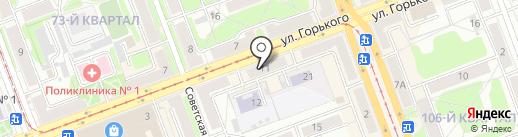 Цветочный блюз на карте Ангарска