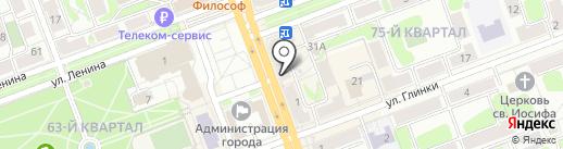 Линз на карте Ангарска